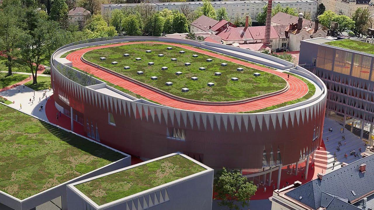 štadión s atletickou dráhou