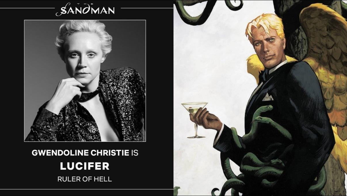 Gwendoline Christie is Lufifer Sandman