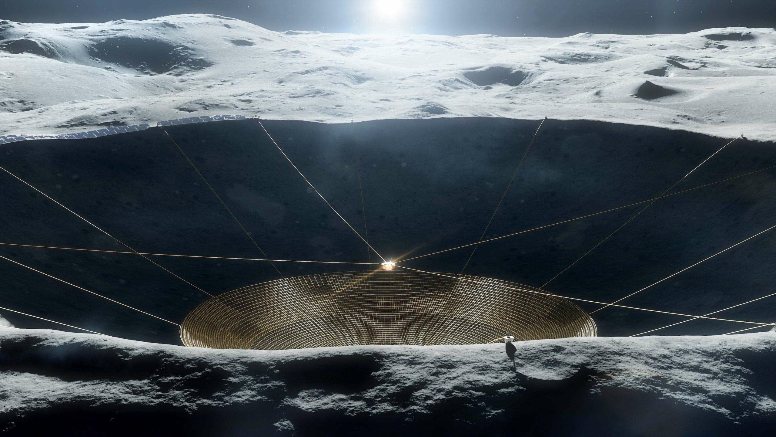 Rádiový teleskop na Mesiaci